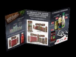 Orkla Foods – Forkæl Din Grillmad – Crossbrand-kampagne – Indsalgsfolder-indersider
